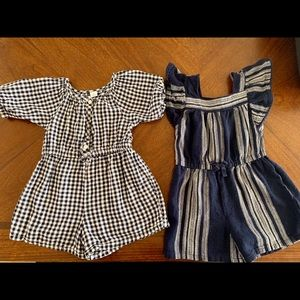 2- Old Navy 5T rompers